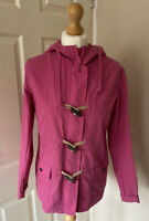 Fat Face Rain Coat Uk 10 Rope Toggle Zip Closure Pink