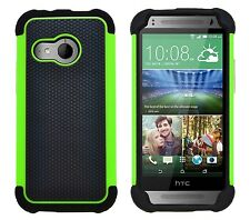 Shock Proof Heavy Duty Tough Armour Hard Case Cover for HTC One Mini 2 (m8 Mini) Green