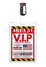 Area 51 VIP Pass Alien ID Badge Card Cosplay Prop Costume Comic Con