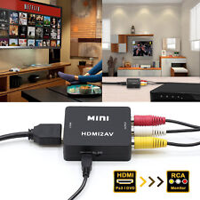 HDMI to RCA Composite AV CVBS 3RCA Video Cable Converter 1080p Downscaling US