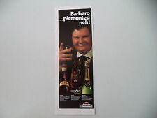 advertising Pubblicità 1973 BARBERO BARBERA/DIESUS/PIEMONT