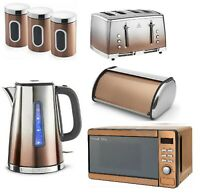 Russell Hobbs Set  Electric Jug Kettle Toaster Microwave Sunset Stainless Steel