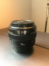 Canon EF 50 mm F/1.4 EF USM for Canon with hood.