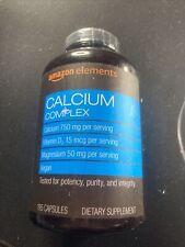 Amazon Elements Calcium Complex with Vitamin D 250 mg 195 Capsules Exp 08/21