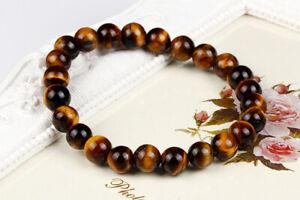 Wholesale 8MM Natural Stone Bead Charm Men Women Healing Bracelet Bangle Jewlery
