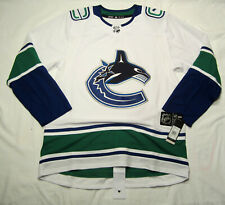 VANCOUVER CANUCKS size 50 = Medium -  White ADIDAS NHL HOCKEY JERSEY away - road
