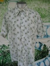 Vintage Mens Shirt Geometric Print by Donlin Tapered n Tails Size 15 - 15 1/2