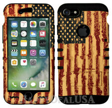 American Flag Hard Cover ShockProof ARMOR Hybrid Case for Apple Samsung Phone