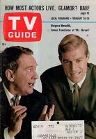 1965 TV Guide February 20; Burgess Meredith-Mr Novak; Addams Family; G Brooks