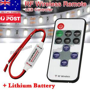 12V RF Wireless Remote Switch Controller Dimmer for Mini LED Strip Light BO