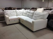 Pottery Barn Square arm Slipcovered Comfort sectional sofa Loveseat Chair corner