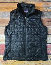 Patagonia Nano Puff Vest Men's Medium Black Puffer Full Zip