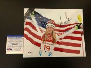 Mikaela Shiffrin SIGNED 8x10 photo autograph Olympics USA Gold COA PSA/DNA B