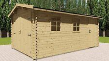 Holzgarage 28mm Garage Holz mit Holztor - 3.3x5.1M -  Aurich 28040