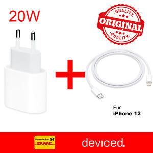 Original Apple iPhone USB Ladegerät Ladekabel 20w + 1m Lightning Kabel Usb-C