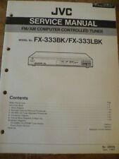 JVC     FX-333BK   FX-333LBK   Stereo Tuner Service Manual
