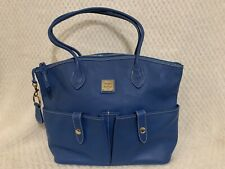 NWOT Dooney & Bourke  Zip Saffiano Satchel Tote Bag Purse Lapis Blue GORGEOUS!