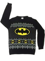 Batman Christmas Sweatshirt Xmas Official Pullover Knitted Jumper Small NEW