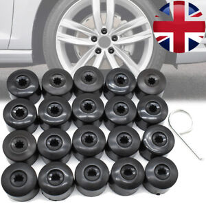 20x Wheel Nut Bolt Cap Full Cover Tool For VW Scirocco Tiguan Touran Jetta Polo