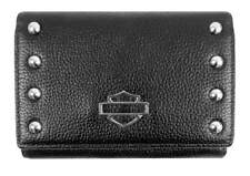 Harley-Davidson Women's Studded Bar & Shield Rider Clutch Wallet RD4951L-BLK