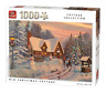 1000 Piece Cottage Jigsaw Puzzle Old Christmas Cottage Snowman Frost Lights 5742