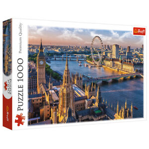 Trefl 1000 Piece Jigsaw Puzzle London Big Ben London Eye Thames 97x34cm