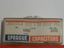 Electronics - Sprague: Capacitors .000005.6mf