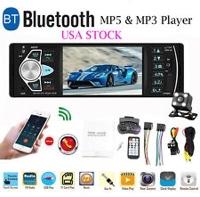 4.1'' Single 1DIN Car Stereo MP5 MP3 Player Bluetooth FM Radio USB AUX+Camera US