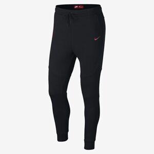 NWT Nike Portugal Men's Pants Tech Fleece Slim Fit- Black/Red 927401 060 2XL XXL