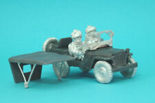 1st Corps 28mm WW2 Jeep with cover .Helmeted British Airborne Crew Jeep10.