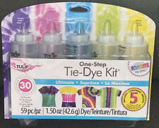 Tulip Tie-Dye Kit*ULTIMATE*One-Step 59 Pc Inc 5 Refill Packets Up To 30 Projects