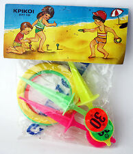 RARE VINTAGE 70'S PLASTIC RINGS BEACH SUMMER TOY GALACTICA GREECE GREEK NEW !
