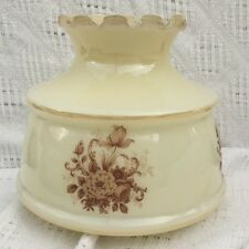 Vintage Glass Duplex Oil lamp shade with flower design excellent condition