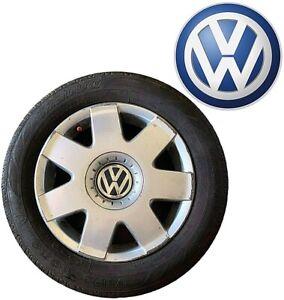 """CERCHI in Lega 14"""" pollici VW FOX 2010 5 fori Firestone TZ300a 185 60 R14 82 H"""