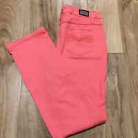 EARL Straight Leg  Pink Jeans Size 10 Womens Mid Rise Stretch Denim Jean 31x30.5