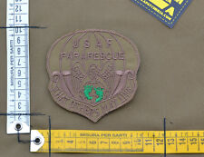 "Ricamata / Embroidered Patch ""USAF Pararescue"" Coy Brown with VELCRO® brand hook"