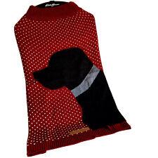 Eddie Bauer Pet Knit Sweater Coat Red Size XL Black Lab Design Petrageous Design