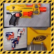 Nerf N-Strike Barricade RV-10 Blaster Elite Triad EX-3 Reflex IX-1 Gun Lot