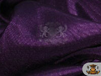 "Satin Shantung Solid Fabric DARK PURPLE / 60"" Wide / Sold by the yard"