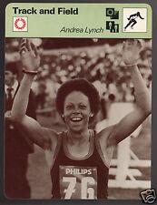 ANDREA LYNCH Barbados 100m Running Track & Field 1979 SPORTSCASTER CARD 60-17