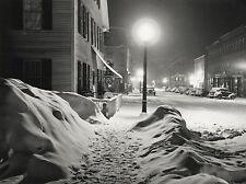 Marion POST-WOLCOTT: Blizzard, Woodstock, VT 1940 / FSA /Silver Print/Prtd 1979