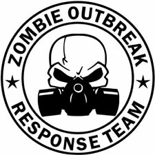 Zombie Outbreak Response Team Cool Funny Decal Sticker