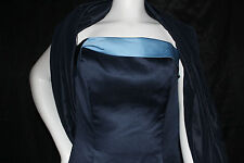 JORDAN SIZE 10 DRESS GOWN NAVY BLUE #331  STRAPLESS BRIDESMAID PROM FORMAL NWT