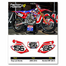 2004-2013 HONDA CRF 250 X Dirt Bike Graphics Motocross Custom Number Plates TLD