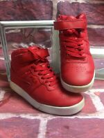 Fila Vulc Mid Hi Top Sneaker, Red Solid, Size 4Y US
