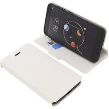 Tasche für Archos Diamond Alpha Smartphone Book-Style Schutz Hülle Buch Weiß