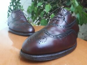 Alden 929 Mens Burgundy Leather Wingtip Brogue Oxford Shoes Size US 10.5 BD