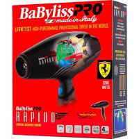 BF7000 BABYLISS PRO RAPIDO LIGHTWEIGHT 2000 WATT HAIR BLOW DRYER FERRARI ENGINE