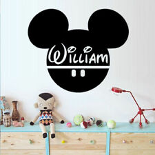 Wall Decal Disney Custom Baby Name Head Mice Ears Mickey Mouse Children M1374