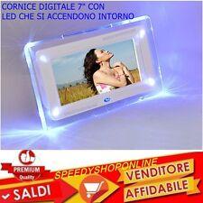 CORNICE DIGITALE 7''  USB FOTO VIDEO MP3 JPG SD CARD CON TELECOMANDO E LED BLU